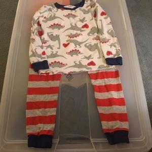 Carter's Boys Valentine Dinosaur Pajamas. Size 4T